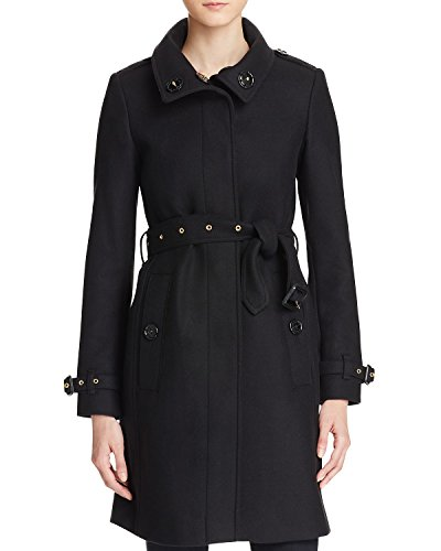 Burberry GIBBSMOORE Wool Blend Funnel Collar Trench Coat In (Funnel Collar Coat)