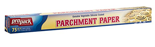 18' White 50 Sheets - Propack Non Stick Parchment Baking Paper Genuine Vegetable Silicone Coated Parchment Paper 18 x 50 Pack Of 1