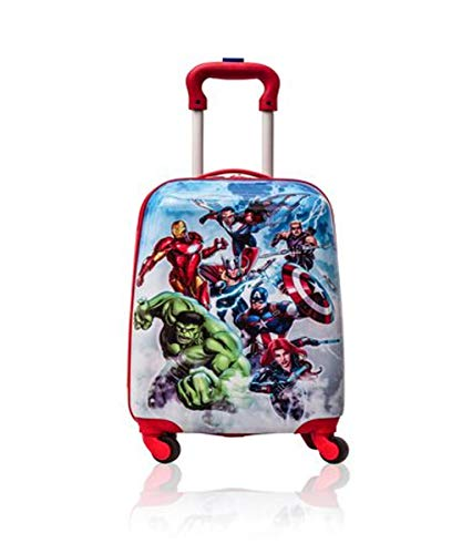 Marvel Avengers Hardshell Spinner Trolley 18 Inch Kids Luggage [Blue] ()