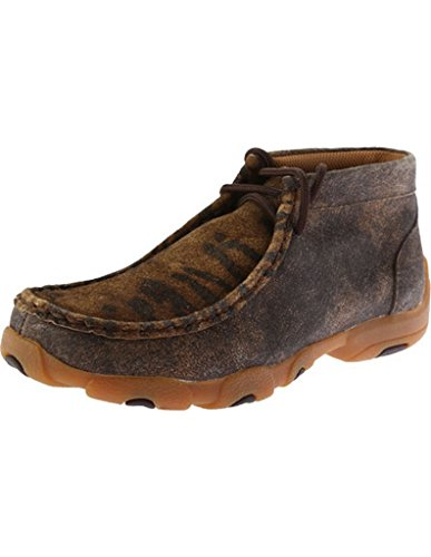 Twisted X Kids Distressed/Tiger Driving Mocs (Distressed Leather Kids Shoes)