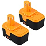 3.0Ah Ni-Mh Replacement for Ryobi 18V Battery One Plus P100 P101 ABP1801 ABP1803 One+ Cordless Power Tool 18 Volt Batteries -2 Pack