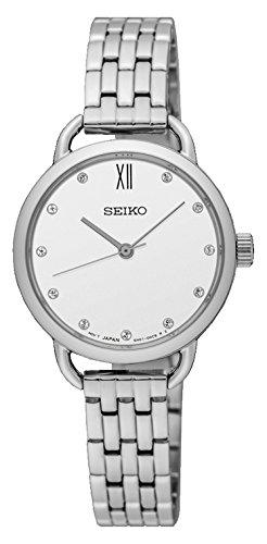 Seiko Reloj Analógico para Mujer de Cuarzo con Correa en Acero Inoxidable SUR697P1: Amazon.es: Relojes