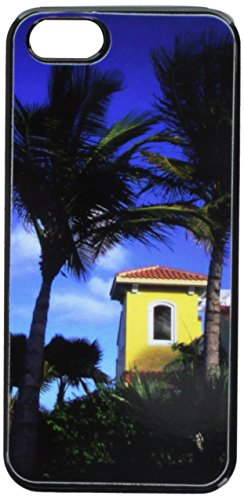 Graphics and More Tropical Island Resort Palm Trees Snap-On Hard Protective Case for iPhone 5/5s - Non-Retail Packaging - Black
