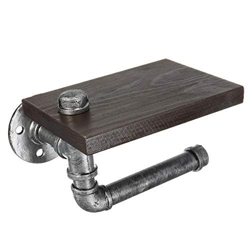 Iron Pipe Holder Industrial Toilet Storage Stainless Mounted Fashion Instruction