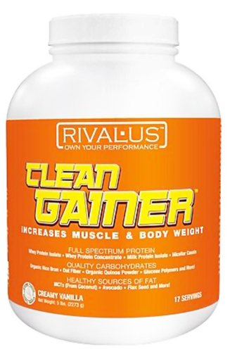 Rivalus Clean Gainer Protein Supplement, Vanilla, 5 Pound