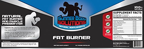 Summer Body Solutions Fat Burner for Men and Women - Premium Thermogenic Weight Loss Supplement - NO JITTER Muscle Preserving Natural Diet Pill - 60 Veggie Capsules