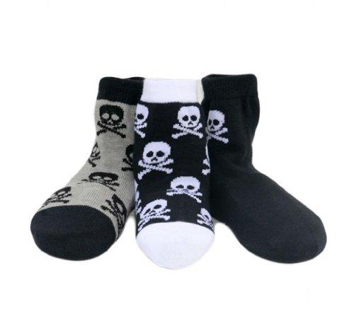 Born To Love Boy's Organic Cotton Skull Sock Set-Multi-2-3Years by Born to Love