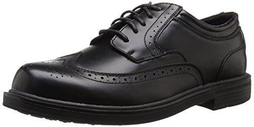 Deer Stags Mens Tribune Wingtip Oxford,Black,7.5 M