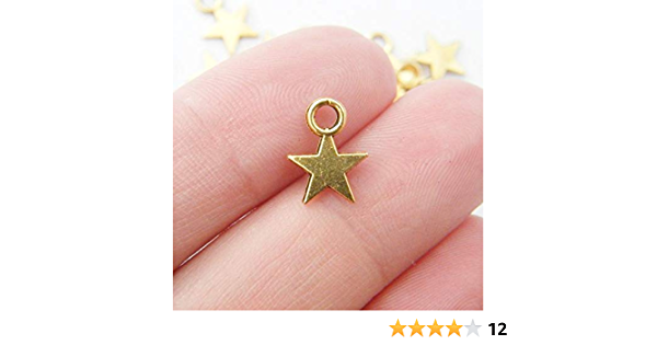 SC1290 BULK 50 Starfish Charms Shiny Silver Plated Dainty and Classic