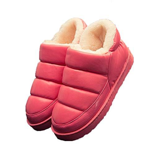 Outdoor Red Slipper Moccasin Booties Winter Waterproof Indoor Flat Loafers Women qFzZXn