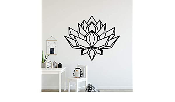hetingyue Decoraciones para el hogar de Loto Europeo Decoraciones Modernas de acrílico para Sala de Estar Pegatinas para Dormitorio de niños 45x54 cm: Amazon.es: Hogar