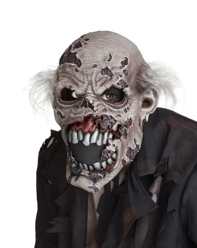 California Costumes Men's Ani-Motion Masks - Zombie Ani-Motion Mask, Assorted, One Size -