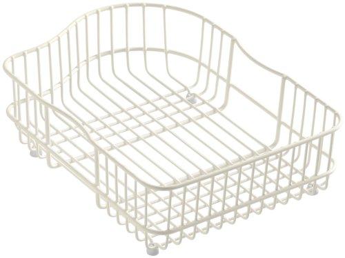 KOHLER K-6603R-47 Hartland Wire Rinse Basket, Almond (Basket Stainless Wire Rinse Steel)