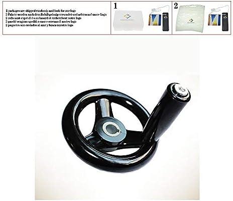 1 unids Negro Fresadora Torno CNC Impresora 3D Spoked Rueda de ...