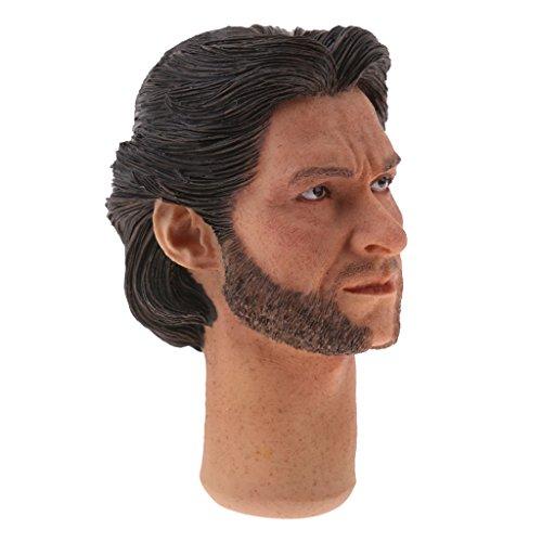 MonkeyJack 1/6 Scale Man Head Sculpt for 12'' DID TC Dragon Hot Toys Male Action Figure Body Parts K# - 12' Figure Dragon