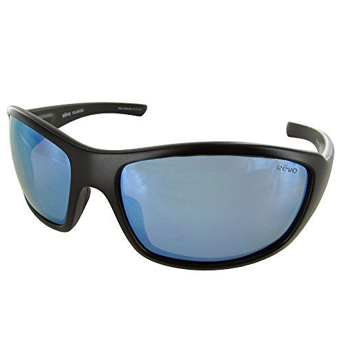 Revo Mens 4057X Bearing Cruze Polarized Sunglasses, Matte Black/Blue - Sale Sunglasses Revo For