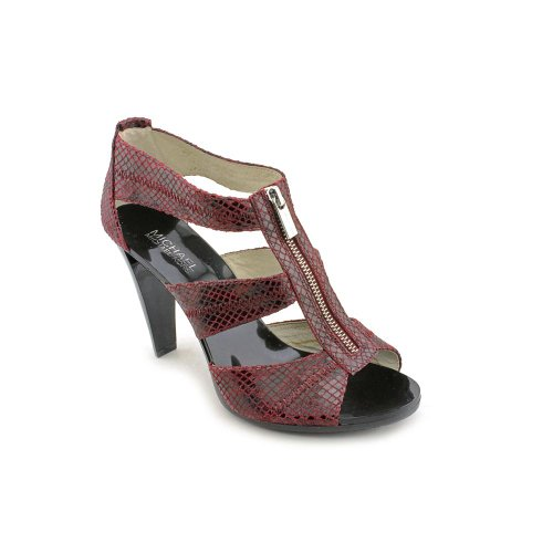 MICHAEL KORS BERKLEY BORDEAUX T-STRAP PUMP WOMENS SIZE 8 M