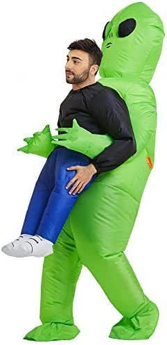 TOLOCO Inflatable Costume | Inflatable Alien Rider Costumes for Adults Or Child | Halloween Costume Cosplay Party