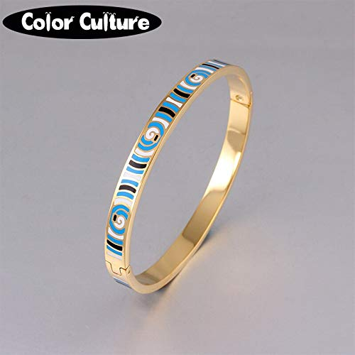 Bangles for Women | Indian Style Stainless Steel Bracelets & Bangles Cuff | Fashionable 0.6mm Width Ethnic Enamel Bangles