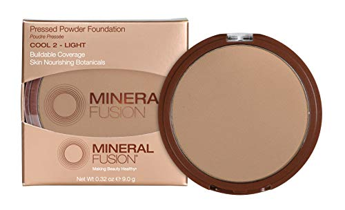 Mineral Fusion Pressed Powder Foundation – 02 Cool By Mineral Fusion for Women – 0.32 Oz Foundation, 0.32 Oz
