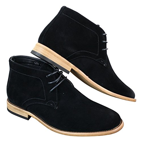 Suede Brown Chelsea Ankle Lace Black Chukka Blue Shoes Black Navy Boots PU Dealer Mens Sdqw6gS