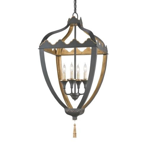 Currey and Company 9341 Beaumont 4 Light Full Sized Pendant, Bel Air Black