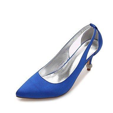 Satin Heelivory Ruby UK4 Wedding Dress Flat Champagne EU36 CN36 Comfort Summer Shoes Wedding Women'S Blue Party Rhinestone Bowknot Spring US6 amp;Amp; Evening TqRx6Ytwn