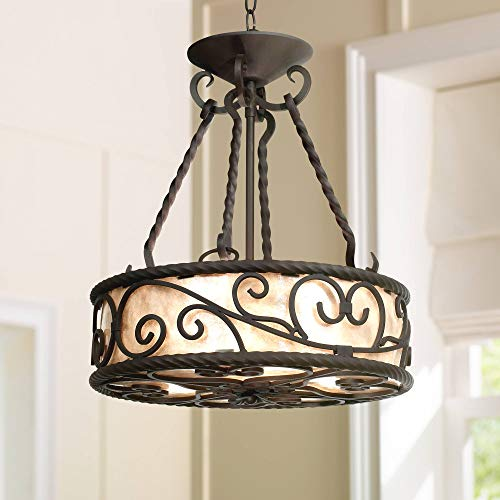 Natural Mica Collection 17 Wide Pendant Chandelier