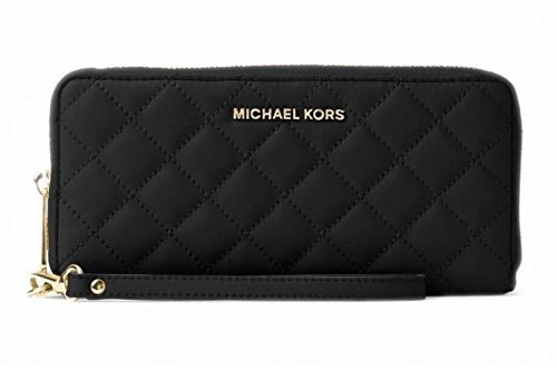 MICHAEL Michael Kors Jet Set Travel Leather Continental Wallet in Black by MICHAEL Michael Kors