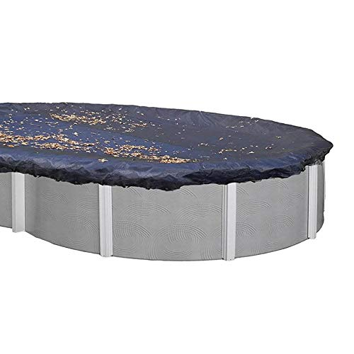 Swimline 18 x 38 Foot Oval Above Ground Heavy Winter Swimming Pool Cover, - 38' Above Oval Ground