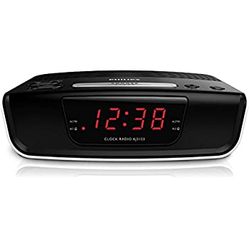 philips aj3123 fm digital tuning alarm clock radio 110 240v european cord home. Black Bedroom Furniture Sets. Home Design Ideas