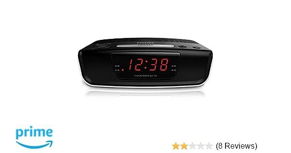 Amazon.com: Philips AJ3123 FM Digital Tuning Alarm Clock Radio 110-240V (European Cord): Home Audio & Theater