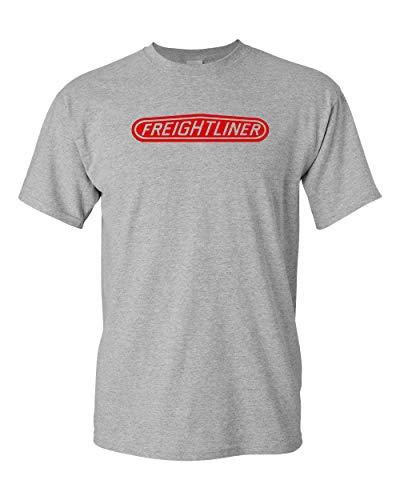 Freightliner Trucks T-Shirt Mechanics tees Dump Tractor Trailer (2X, Grey)