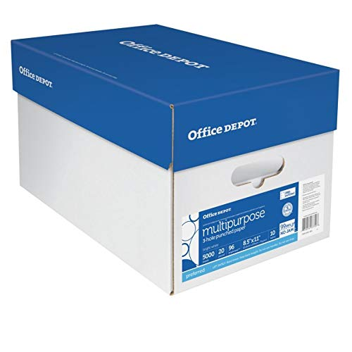 Office Depot Extra Bright Copy Paper, 3-Hole Punched, 8 1/2in. x 11in., 20 Lb., 90 Brightness, Case Of 10 Reams by Office Depot (Image #4)