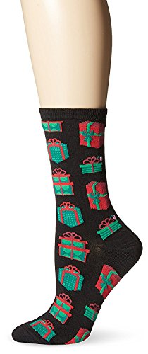 UPC 191751015464, Hot Sox Womens Dress Crew, Christmas Presents Black - Size: 9-11, Comes With a Helicase Brand Sock Ring