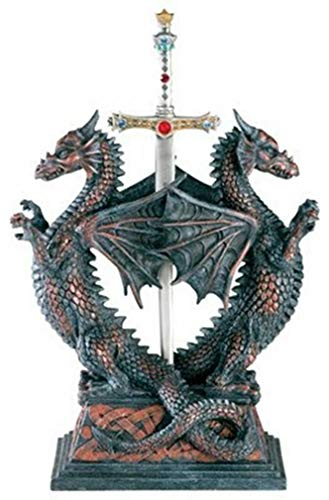 - Ky & Co YK Dbl Dragon Letter Opener - Collectible Figurine Office Decoration