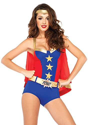 Leg Avenue Women's 3 Piece Comic Book Girl Costume