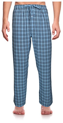 RK Classical Sleepwear Men's Woven Pajama Pants, Size Large