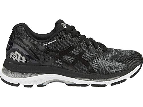 - ASICS Women's Gel-Nimbus 19 Running Shoe, Black/Onyx/Silver, 7 M US