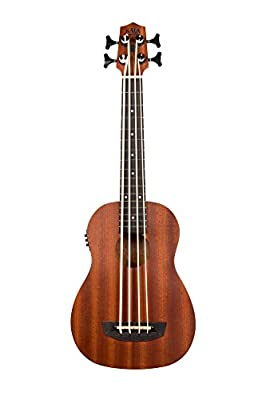 Kala UBASS-WNDR-FS Wanderer Acoustic-Electric U-Bass Ukulele Bass Guitar