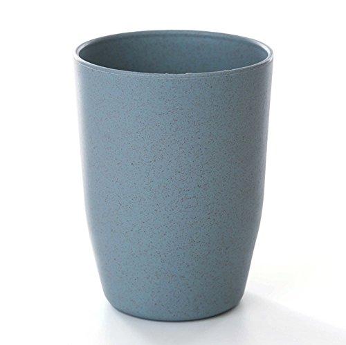 La coupe de brossage de paille de blé de rince-bouche tasse de boire un verre d'accueil salle de bains couples minimaliste cylindre Bluetooth d'un lavabo, d'un bol de paille de blé blue LiuGongSi