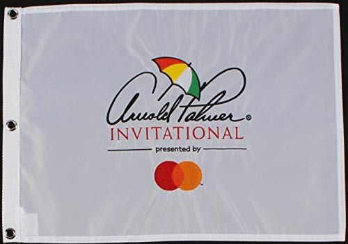 Arnold Plamer Invitational Golf Pin Embroided Flag White-Tiger Woods 8x Time Arnold Palmer Invitational Champion