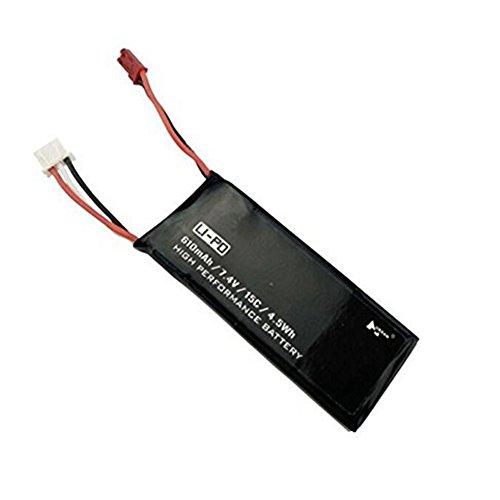 Ocamo Spare Parts 1 PCS 7.4V 610mAh 15C 4.5Wh Lipo Battery For Hubsan X4 H502S RC Quadcopter by Ocamo