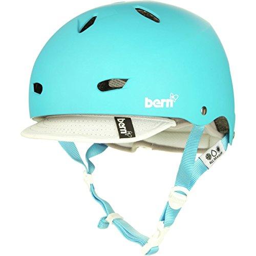 BERN Brighton Summer EPS Matte Helmet with Visor (Cyan, X-Small)