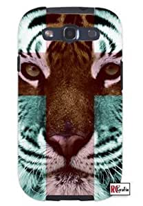 Cool Painting Tiger Hipster Cross Quote Unique Quality Soft Rubber Case for Samsung Galaxy S4 I9500 - White Case