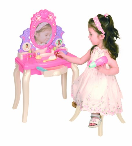 Pavlov'z Toyz Light and Sound Vanity Table Play Set, Pink...