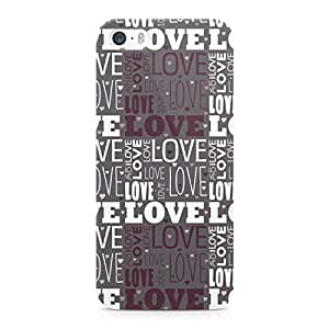 Loud Universe Valentines Day Couples Love Heart Pattern Sleek Design Wrap Around iPhone SE Case - Grey