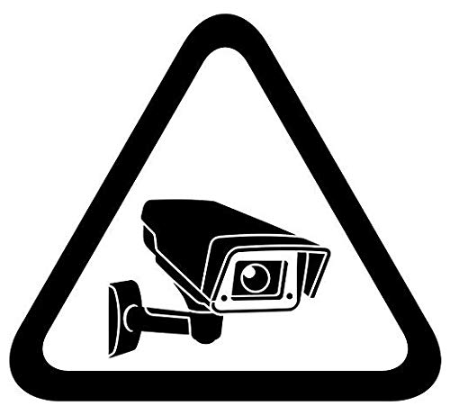 Security Surveillance Camera Sign - Sticker Graphic - Auto, Wall, Laptop, Cell, Truck Sticker for Windows, Cars, Trucks