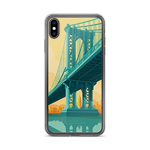 iPhone Xs Max Pure Clear Case Cases Cover Manhattan Bridge New York City Landmarks Artwork]()