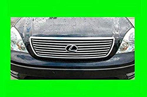 312 Motoring fits 2001-2006 Lexus LS430 Chrome Grill Grille KIT 2002 2003 2004 2005 01 02 03 04 05 06 LS 430 ()